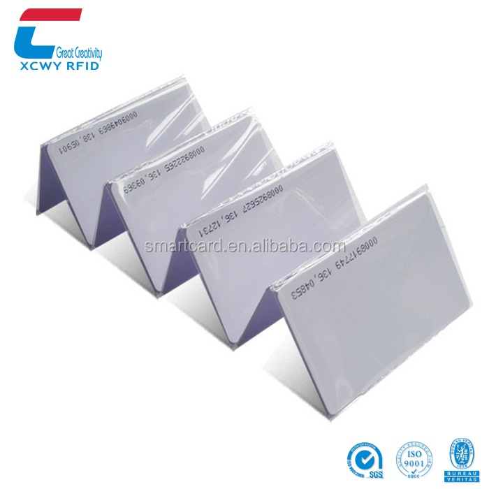 Cheapest White Blank Contactless 125Khz Rfid Smart ID Cards