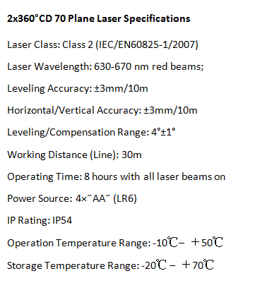 All Function Window Laser 3D Laser Level Green CD70