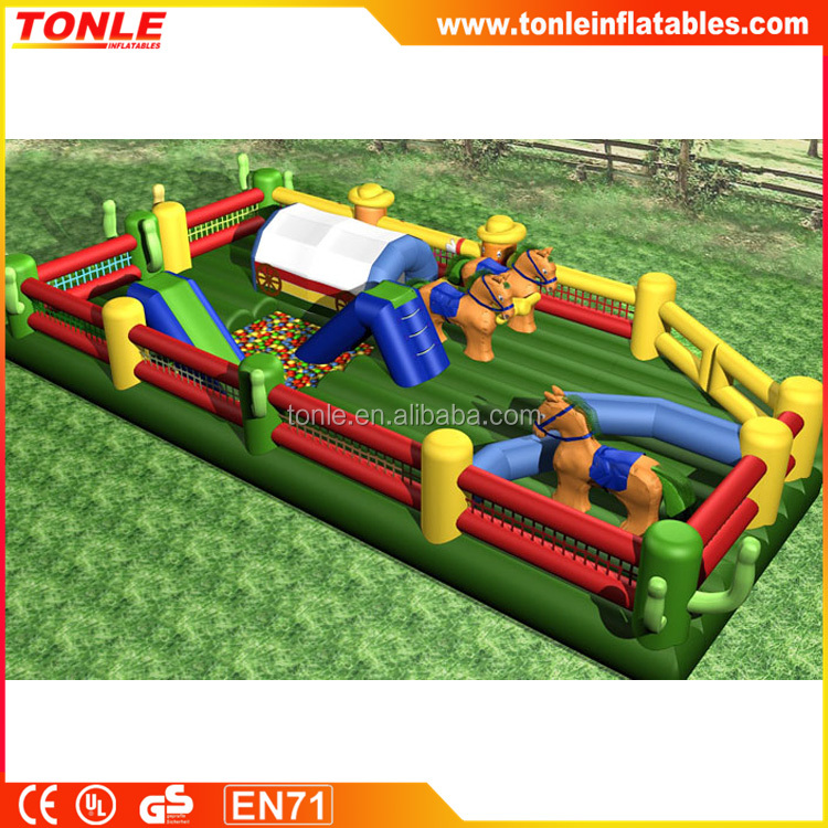 high quality Rancho inflatable playground, inflatable fun city