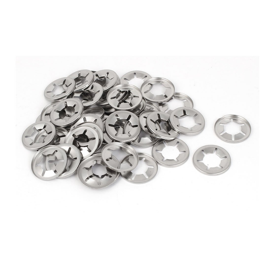 uxcell 5mm Inner Diameter 304 Stainless Steel Starlock Internal Tooth Washers 50 Pcs