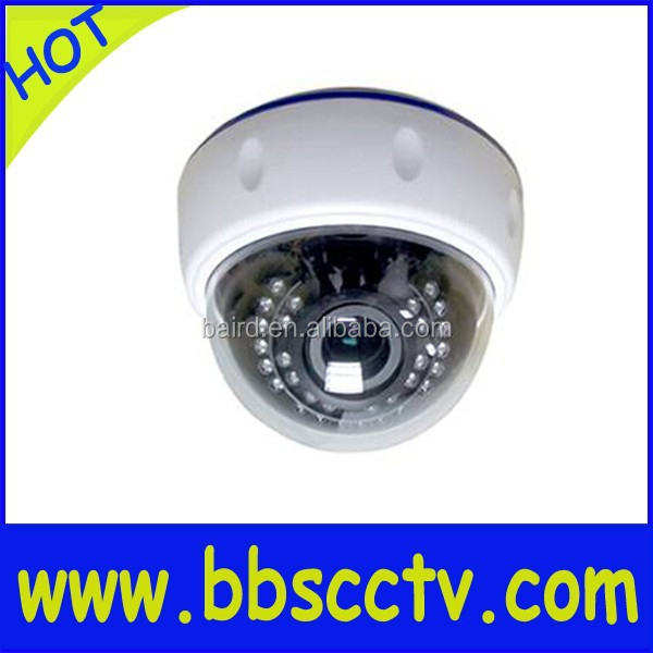 outdoor CCTV IP mini vandal proof IR dome camera 15 pcs led lamps 3.1inch clear glass dome cover housing