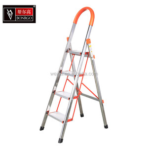 FACTORY DIRECT HIGH QUALITY STAINLESS STEEL HOUSEHOLD LADDER 3/4/5/6STEP STAIR