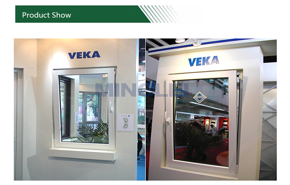 Veka upvc black and white upvc casement windows German