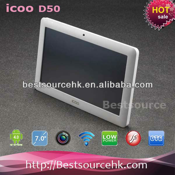 "ICOO D50 Luxury II Capacitive Touch 7"" tablet pc Android 4.0 Allwinner A13 8GB 1.2Ghz 512MB DDR3"