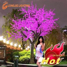 Beautiful outdoor led tree lights purple led cherry tree for wedding decorations