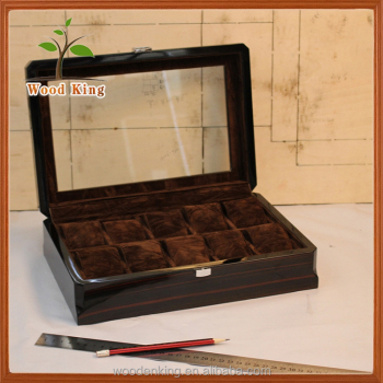 b07da54c2 2017 Wooden Pocket Watch Display Case 10 Slot Wooden Box For Watches ...