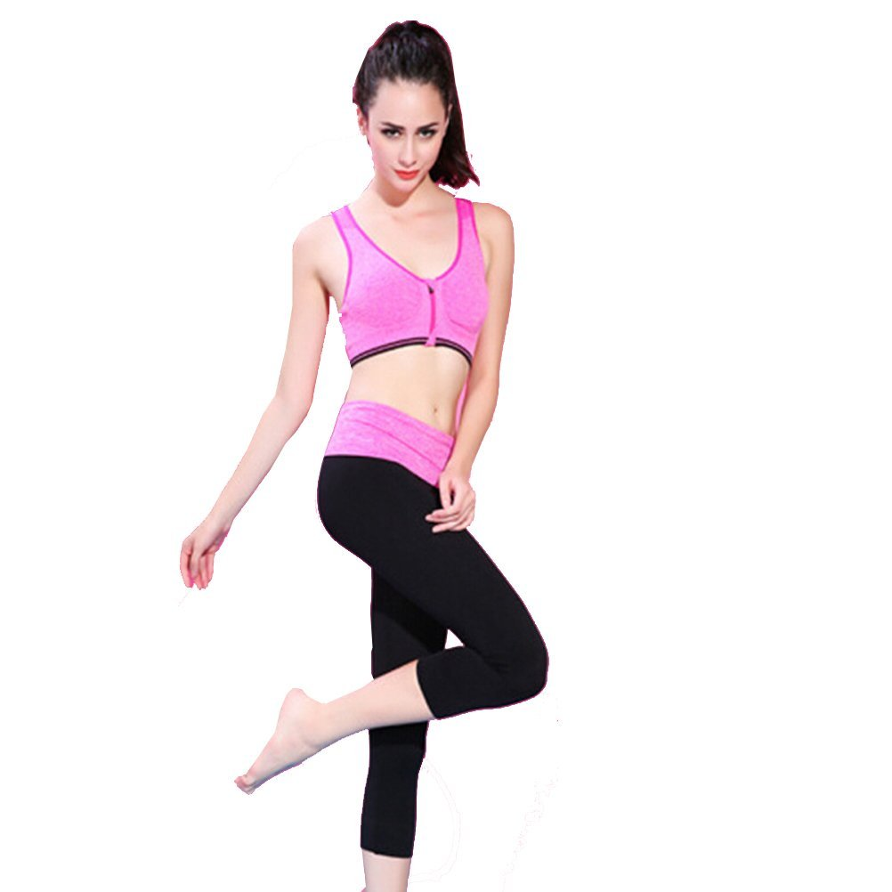 bba9e0d8495 Get Quotations · Ms. Yoga Workout clothes yoga clothes suit jogging sports  bra Small Bust (70-