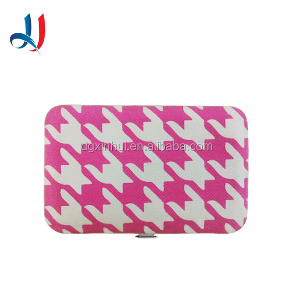 Customized Cheap Metal Credit Card Holder Wallets Striped PU Leather Personalized Business Card Case for Wholesale