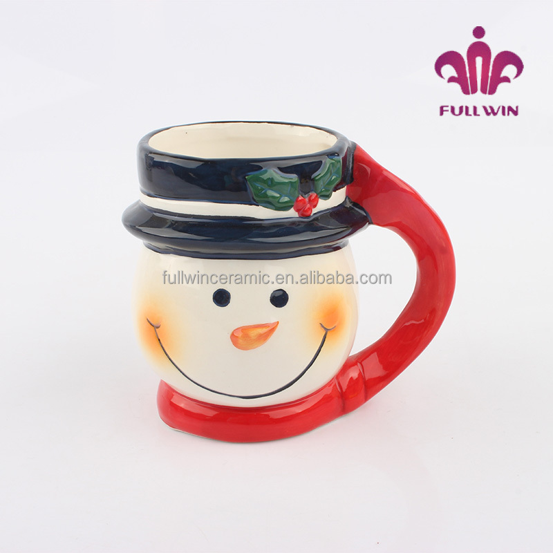 Christmas Xmas Snowman Mugs Unique Shape Ceramic Coffee Kids With Names Custom Design