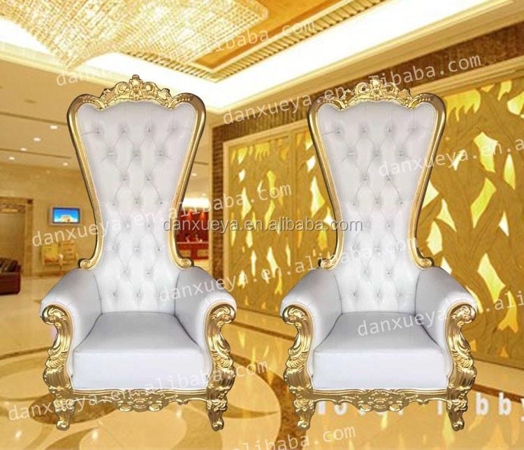 Danxueya Tall Throne Chair White Queen Luxury Wedding Royal King