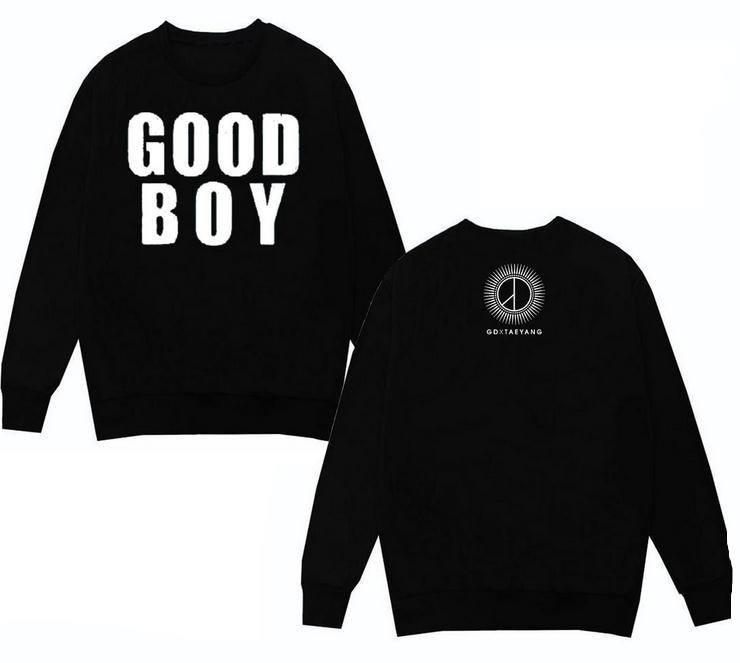 bigbang kpop Zhi-Long GD sun long-sleeved Hoodies terry Sweatshirts Good Boy songs k-pop GD top Coat t Shirt Outerwears sudadera