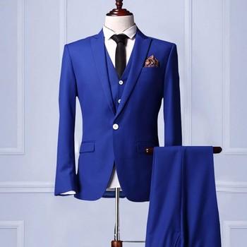 2017 Latest Design Blue Suit Pant Coat Pant Coat Design Men Wedding