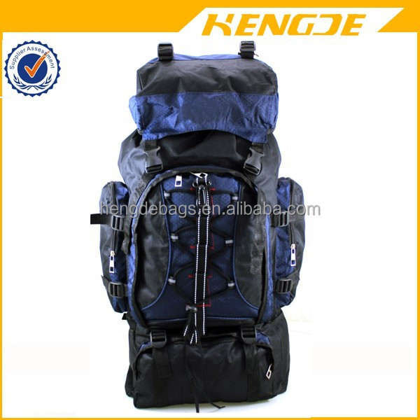 80 Litre brand weekend travel hiking camping mountain top backpack made in China