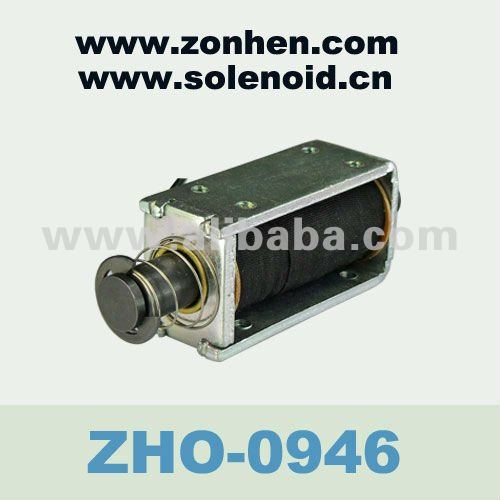 Customized Push type open frame Latching Linear Electro Solenoides 24V ZHO-0946