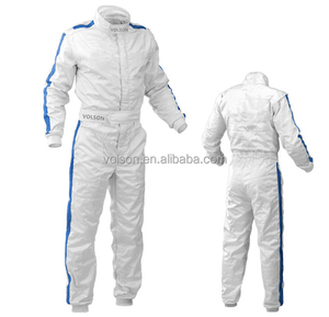 2017 New Fireproof Auto kart drift piece racing suit / racing coveralls white racing suit FIA 8856-2000