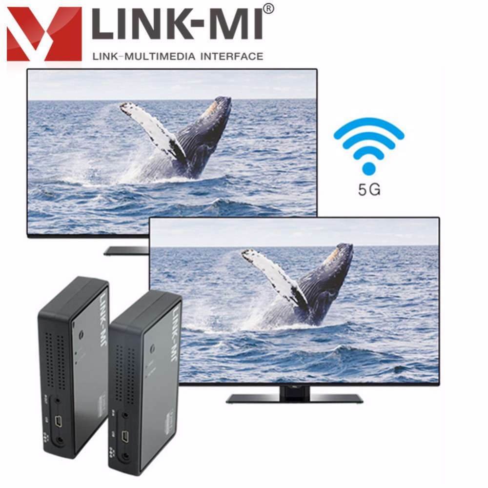 LINK-MI LM-WHD05 50m USB Wireless HD Video/audio Transmission Kit Remote Extender 5ghz wireless hdmi transmitter receiver