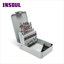 INSOUL 118/135 Degree ANSI Standard Best Metalworking Tool HSS Drill Bits Set For Aluminium