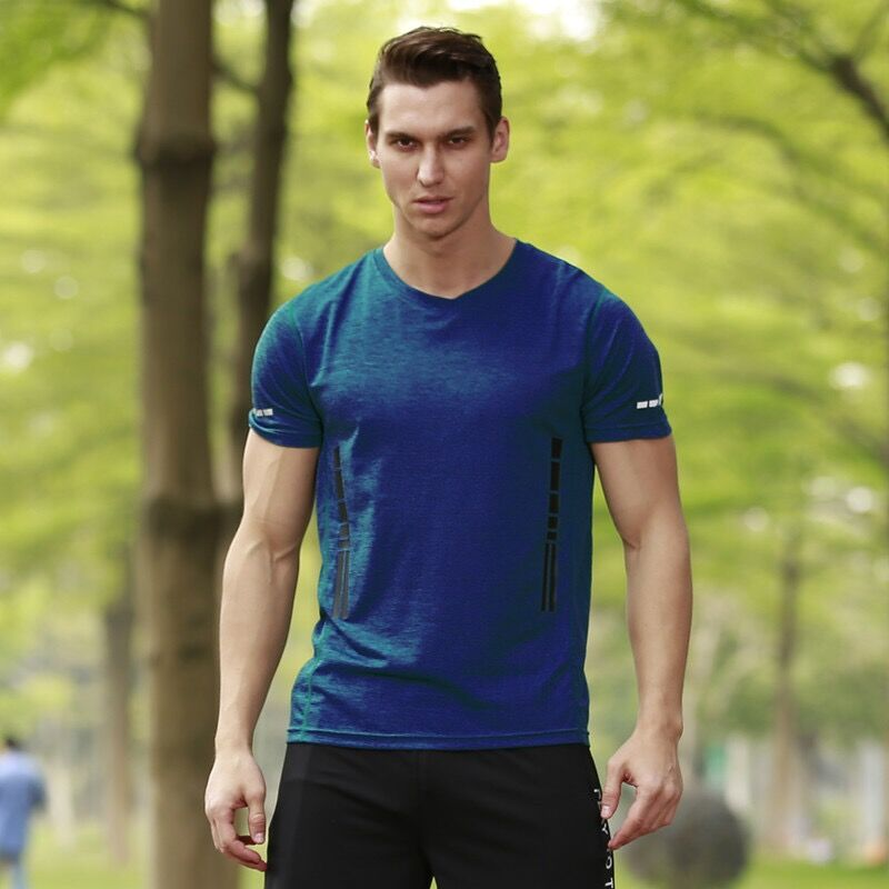 High Quality Breathable Triblend Activewear Clothes Mens Army T Shirt