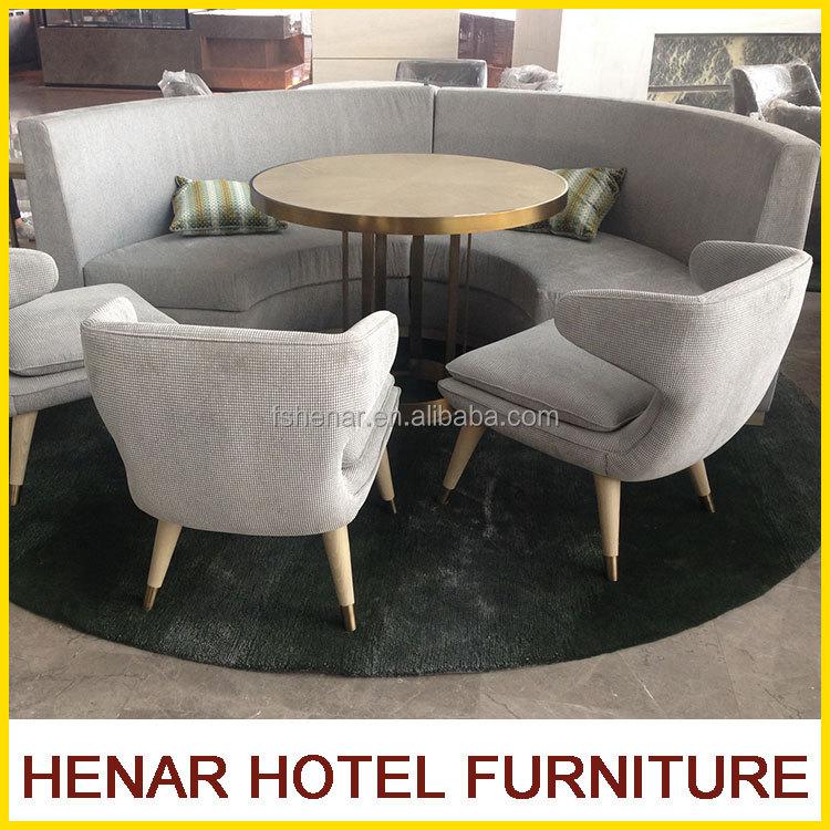 Wooden Half Moon Sofa Set For Restaurant Product On Alibaba