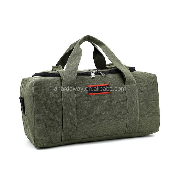 Mens fancy travel duffel bag , best canvas travel bag with big capacity