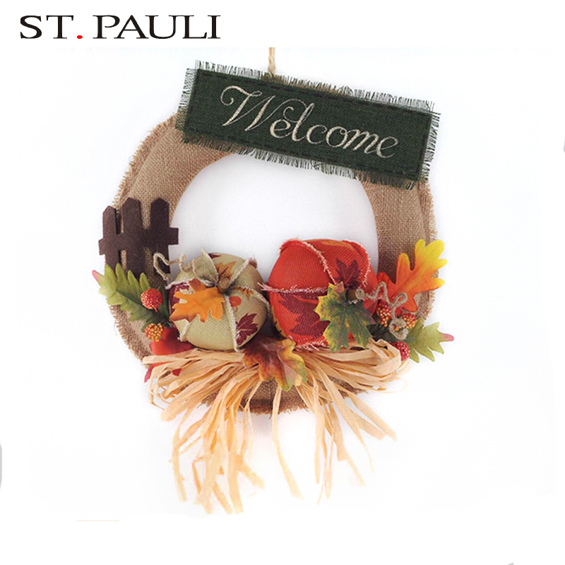 bulk buy linen wreaths thanksgiving different types of gift items