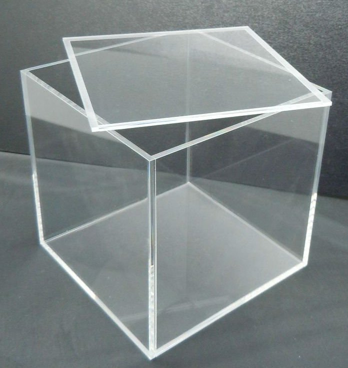 Transparent Plexiglass Box With 100%virgin Pmma Or Recycld Sgs ...