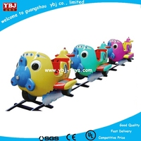 Children chase electric train made of fiber glass BD-N50305B