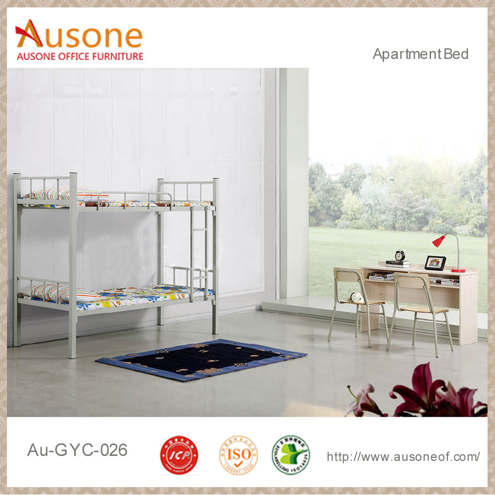 Modern college school student dormitory metal strong bunk bed