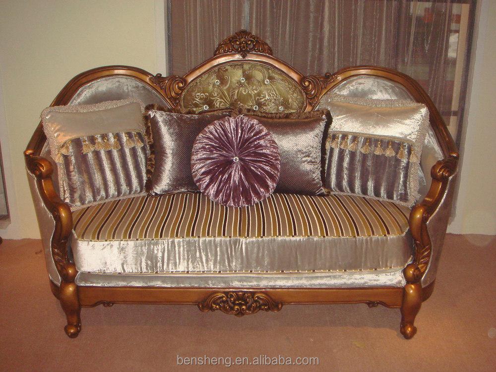 S2172 Foshan Shunde Furniture Market Arabic Style Living Room Armchair Furniture  Sofa Part 86