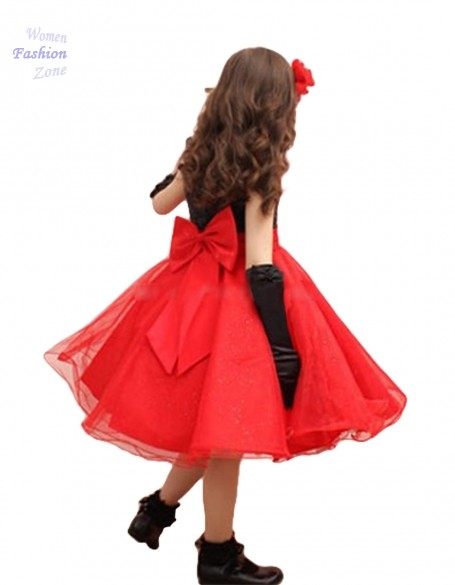 Buy Girl Party Dress Kids Dresses Princess Costume Clothes With Bow Elegant  Sleeveless Wedding Dress For Girls Ball Gowns Red LYP in Cheap Price on ... 803b9befd520