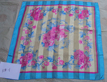 OEM screen Print Real Silk Scarf For Women