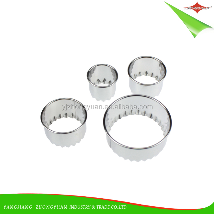 ZY-G1101 Wholesale food grade stainless steel round cookie cutter for baking