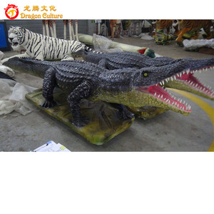 Handmade park decorative life size rubber artificial crocodile/alligators
