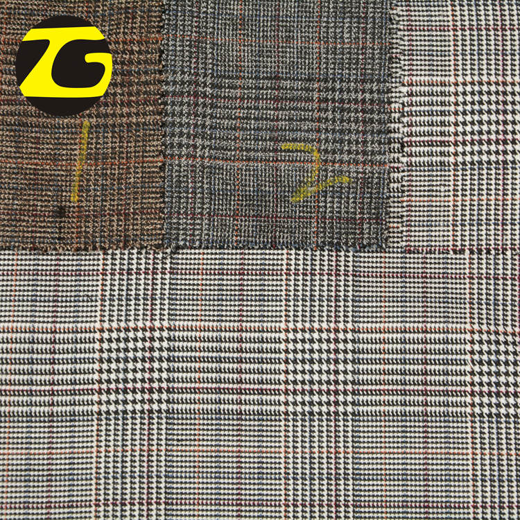 China supplier unique design plaid wholesale <strong>thick</strong> organza fabric