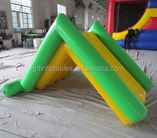 kids inflatable water slide without blower, family used air sealed mini water slide for pool