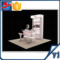 2015 fashionable makeup counter design/cosmetic display cabinet/wooden showcase