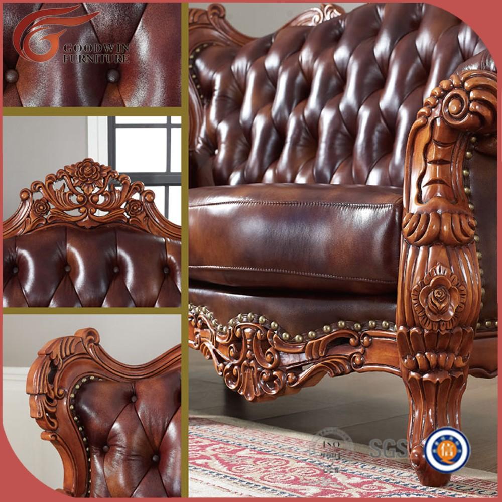 Mano De Madera Tallada Sof Antiguo Antiguo Sal N Sof Muebles  # Muebles Tallados En Madera