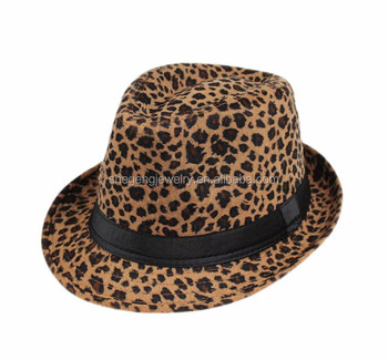 Leopard Cheetah Print Black Band Fedora Hat - Buy Leopard Cheetah ... fad67b5f09e