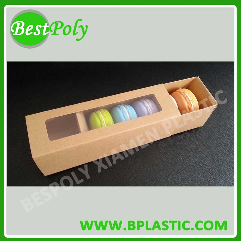 6pcs Paper Box With Plastic Insert Tray For French Macaron