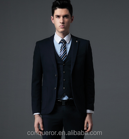 Business 3 Piece Navy Suits Latest Design For Men