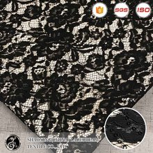 2017 SGS standard hot sale black sequins lace fabric from china factory