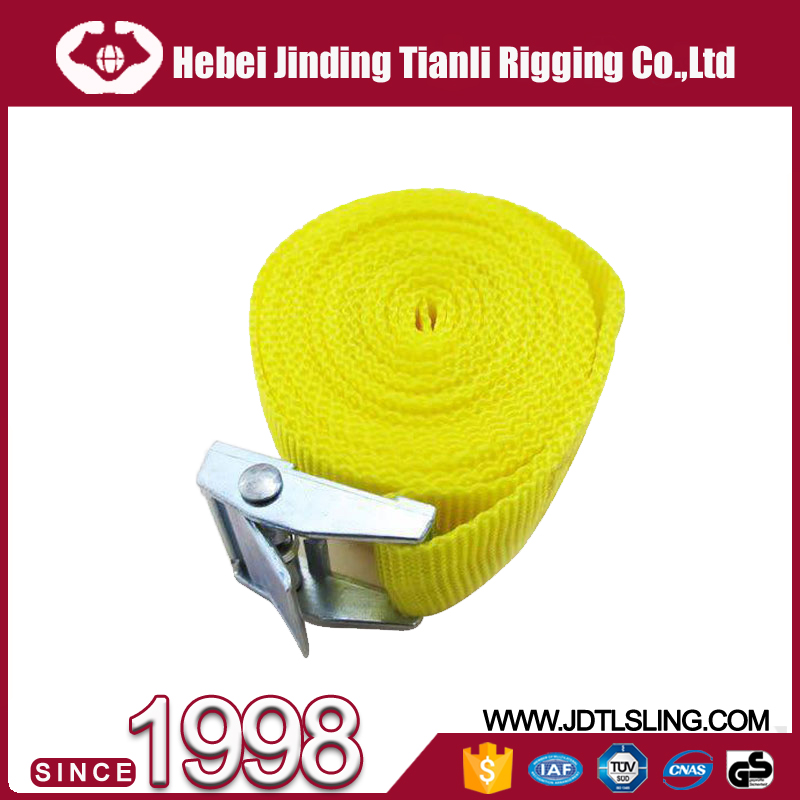 "Cargo lashing strap 1""ratchet buckle webbing buckle lifting lashing with cam buckle"