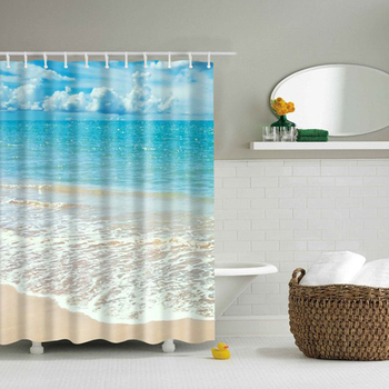 Chinese Exports Blue Ocean Dark Teal Shower Curtain High Demand Products In China