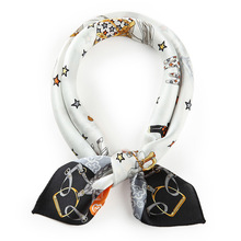 Alibaba China Wholesale Plain printed silk scarf white