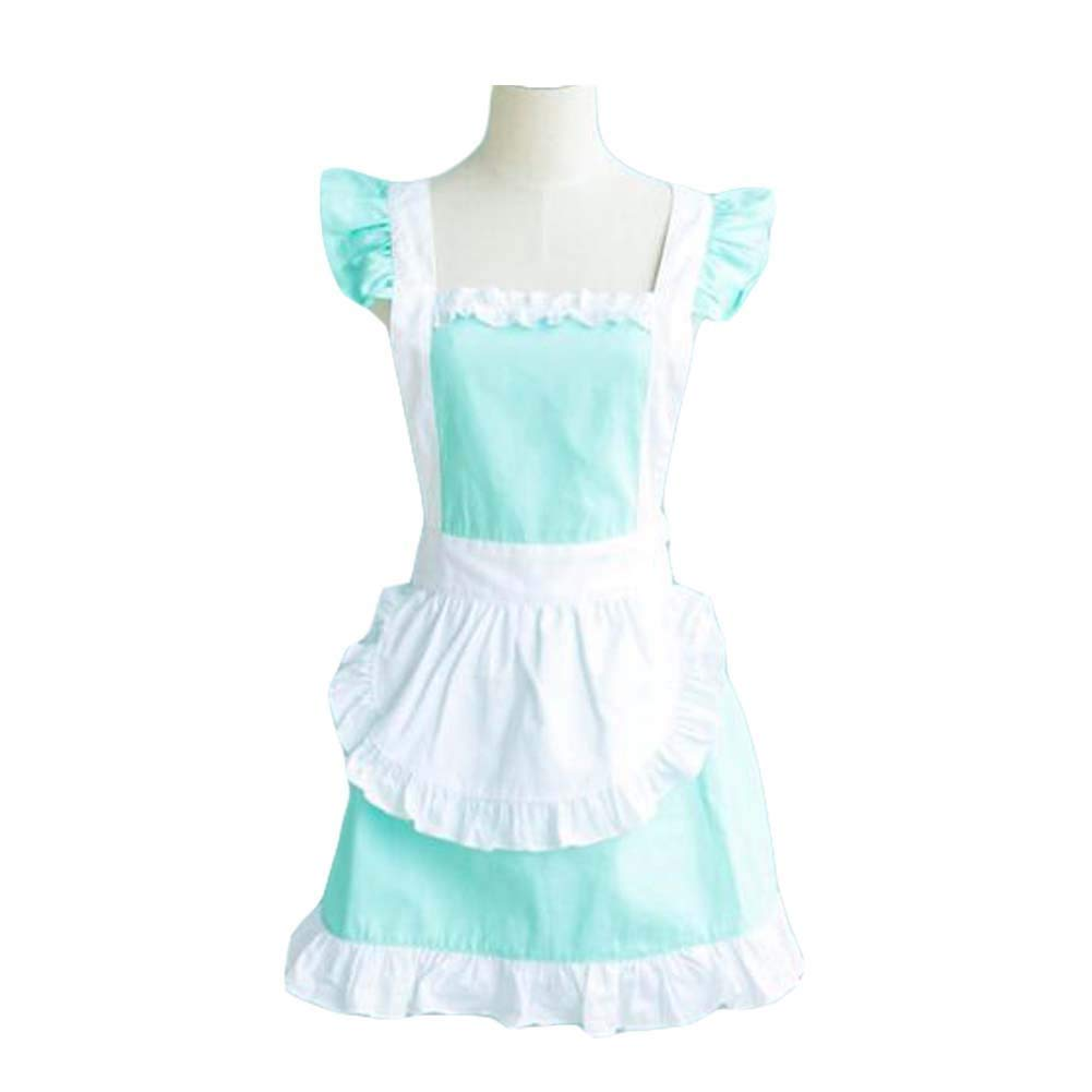 Panda Superstore Restaurant Cross Back Apron Maid Aprons Vintage Apron Maid Costume Ruffle Apron