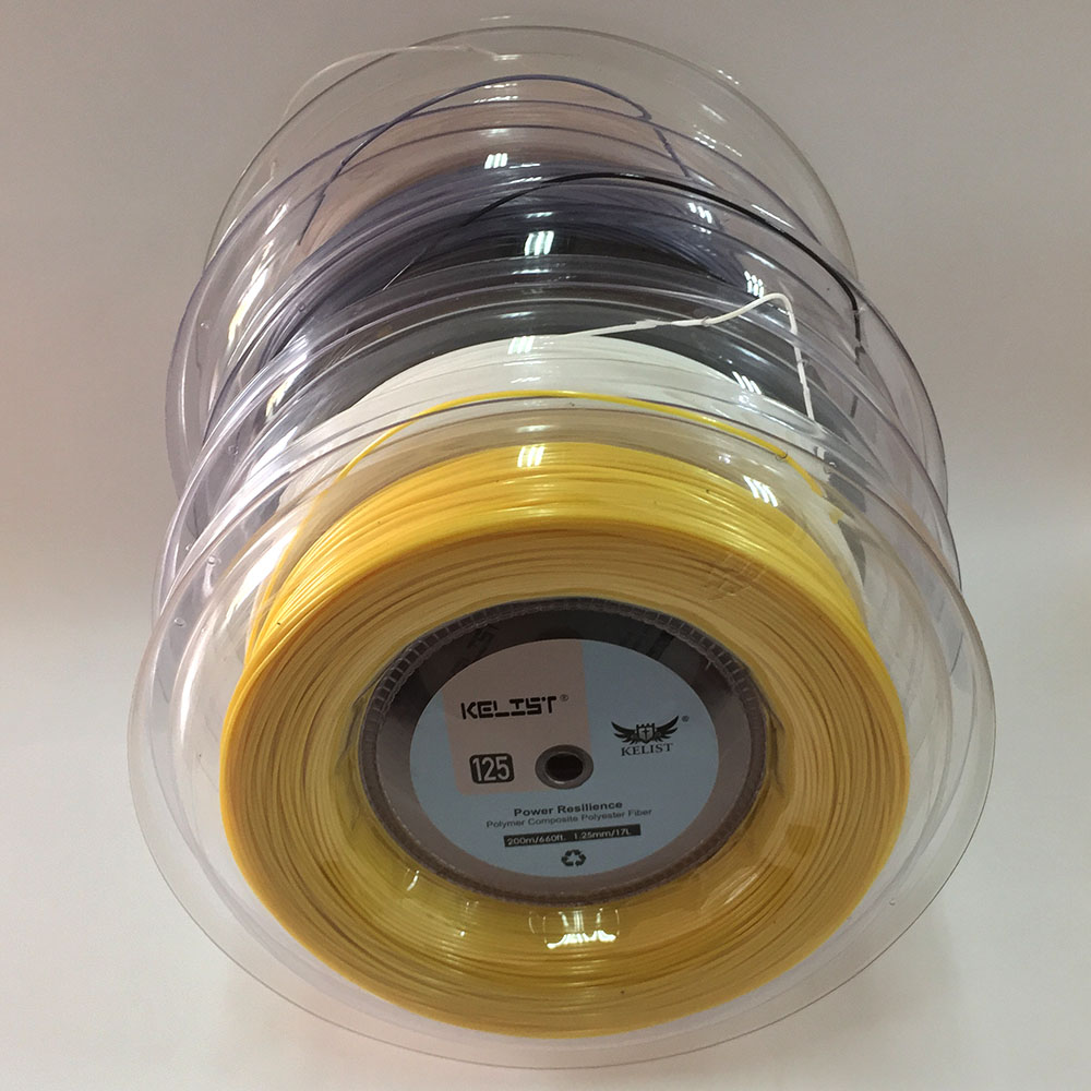 High quality polyester alu power tennis strings for tennis racket 200M reel