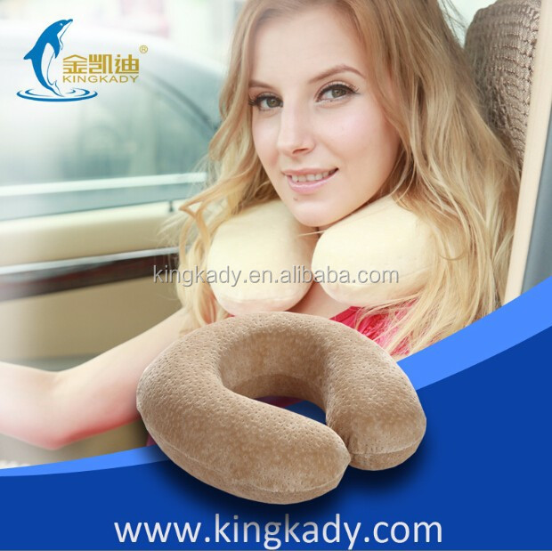 2015 New Adorable Memofy Foam U Shape Neck Ptotecting Cartoon Neck Pillow,inflatable memory form neck pillow with bag