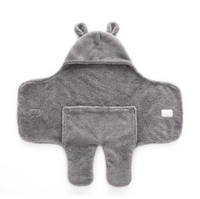 Wholesale 3D Animal Fleece Swaddle Baby Blanket