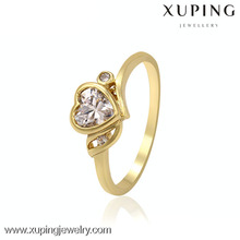13411 xuping fashion turkish gold jewelry 14k fashion jewelry american diamond ring, heart custom jewelery