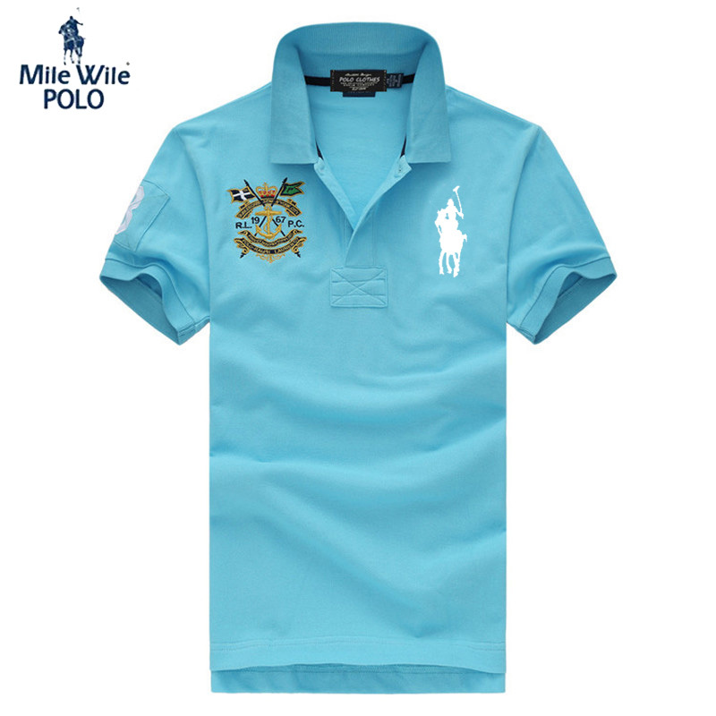 4243a5d709 Get Quotations · Free shipping 2015 new fashion mens solid polo shirt casual  print short sleeve polo shirt business
